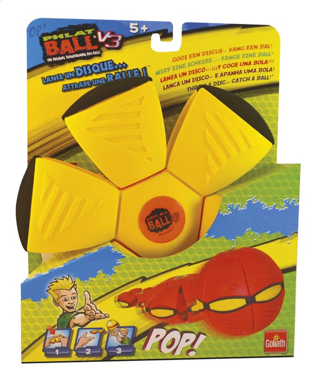 Image pour Goliath frisbee Phlat Ball V3 jaune/orange à partir de ColliShop