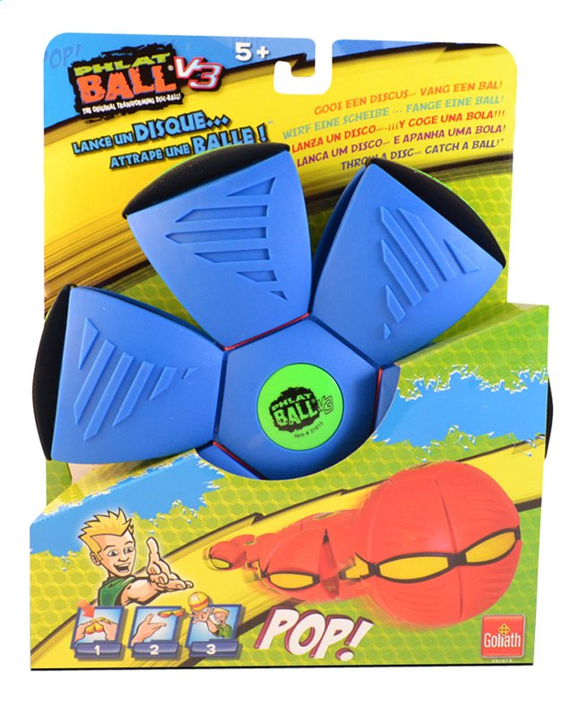 Afbeelding van Goliath frisbee Phlat Ball V3 blauw/groen from ColliShop