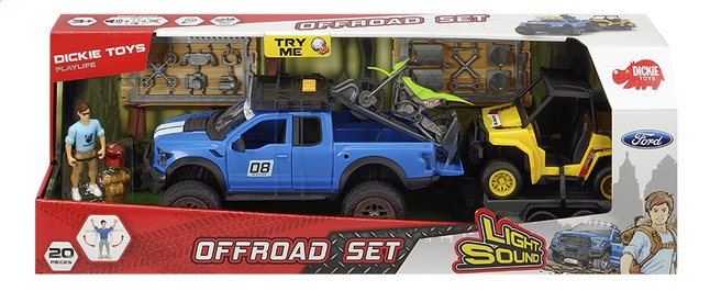 Afbeelding van Dickie Toys 4x4 Ford Offroad Set from ColliShop