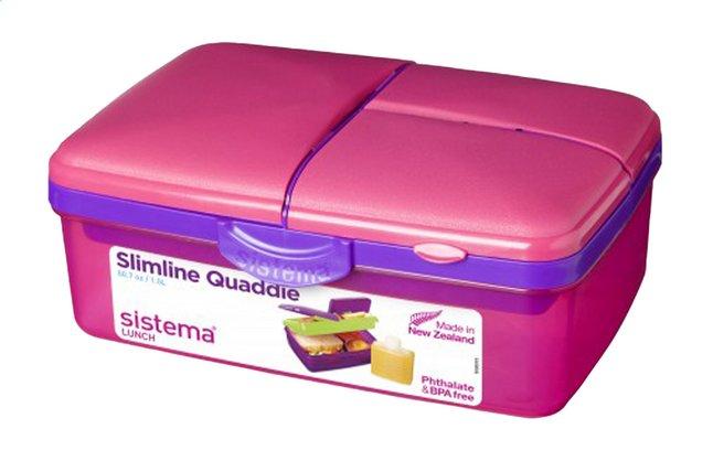 Image pour Sistema boîte à tartines Slimline Quaddie rose à partir de ColliShop