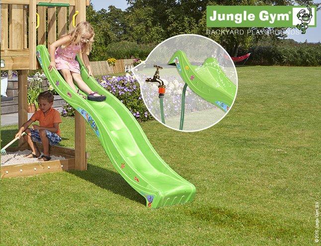 Image pour Jungle Gym tour de jeu en bois House avec toboggan vert à partir de ColliShop