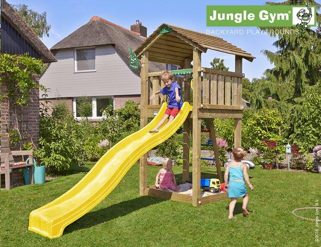 Image pour Jungle Gym tour de jeu en bois Cottage avec toboggan jaune à partir de ColliShop