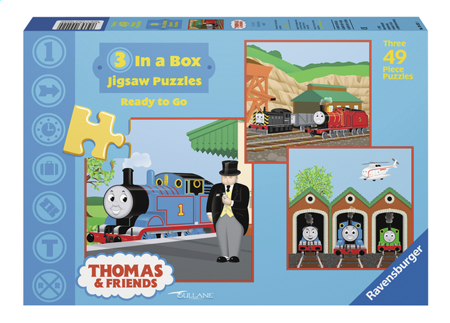 Afbeelding van Ravensburger 3-in-1 puzzel Thomas & Friends ready to go from ColliShop