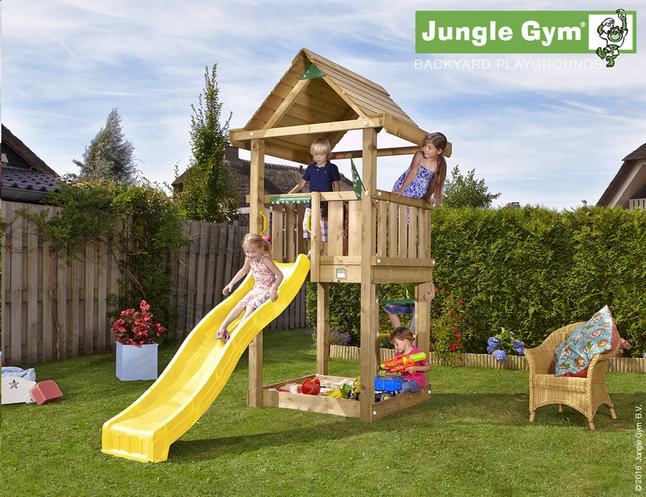 Image pour Jungle Gym tour de jeu en bois House avec toboggan jaune à partir de ColliShop