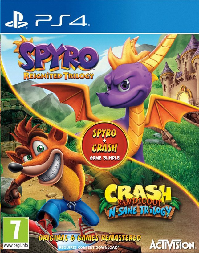Image pour PS4 Crash Bandicoot N.Sane Trilogy & Spyro Reignited Bundle ANG/FR à partir de ColliShop