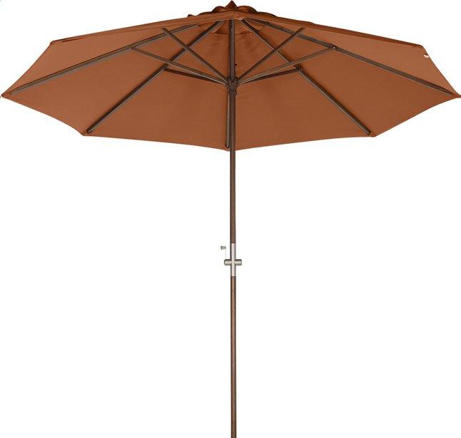 Image pour Parasol de luxe en bois FSC avec manivelle diamètre 3 m terracotta à partir de ColliShop