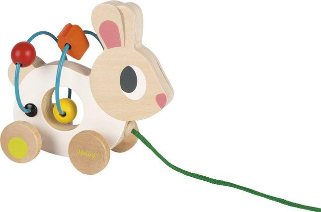 Image pour Janod jouet à tirer Mini Looping Lapin en bois à partir de ColliShop