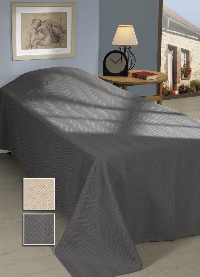 Image pour Sleepnight Couvre-lit Spiga gris coton 240 x 260 cm à partir de ColliShop