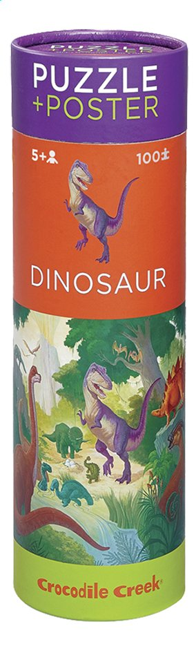 Crocodile Creek puzzel & poster Dinosaur