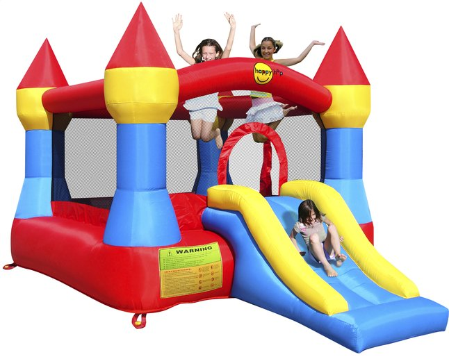 Afbeelding van Happy Hop springkasteel Castle met glijbaan from ColliShop