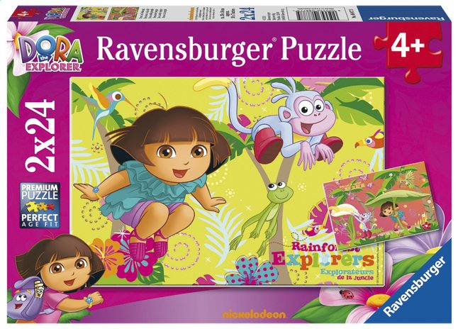 Afbeelding van Ravensburger puzzel 2-in-1 Dora in de jungle from ColliShop