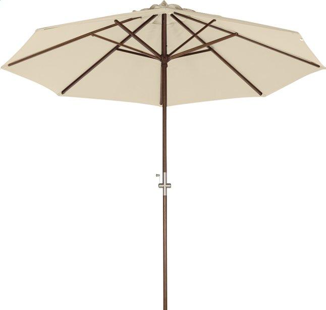 Image pour Parasol de luxe FSC avec manivelle bois Diamètre 3 m sable à partir de ColliShop