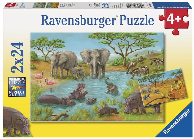 Afbeelding van Ravensburger puzzel 2-in-1 In de wildernis from ColliShop