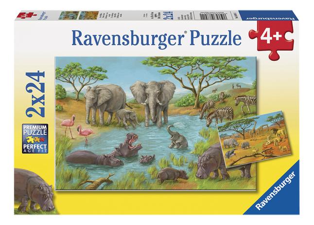 Image pour Ravensburger puzzle 2 en 1 Dans le désert à partir de ColliShop