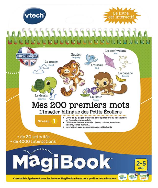 VTech Magibook livre éducatif Niv 1 - Mes 200 premiers mots FR/ANG