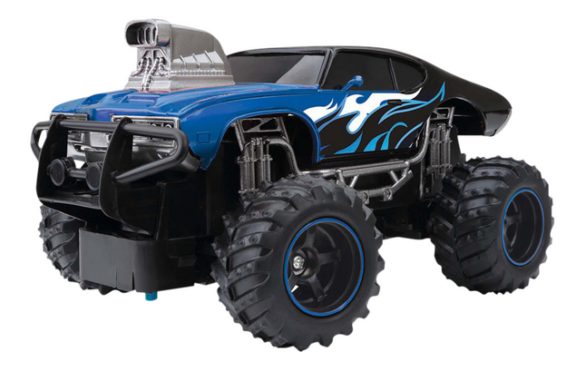 New Bright auto RC Mega Muscle Car blauw