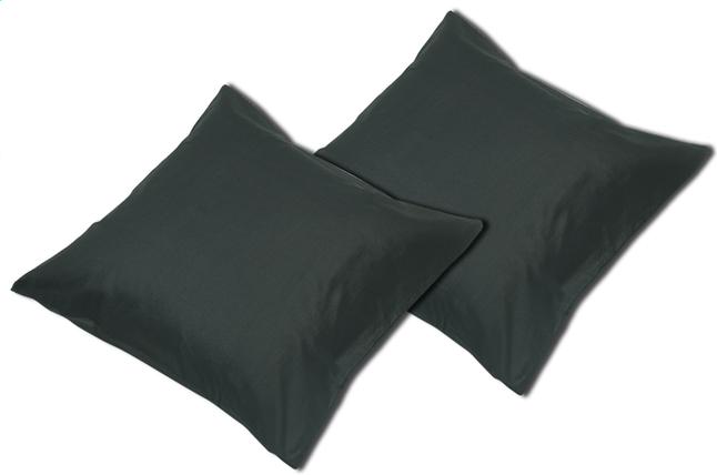 Image pour Sleepnight set de 2 taies d'oreiller noir Set de 2 taies d'oreiller en coton noir à partir de ColliShop