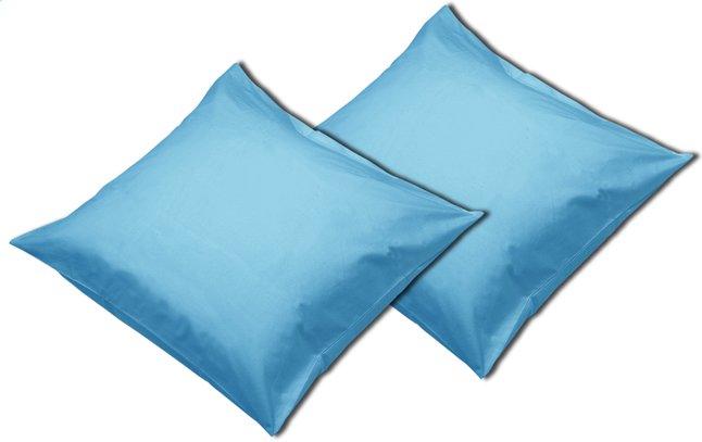 Image pour Sleepnight set de 2 taies d'oreiller turquoise en coton à partir de ColliShop