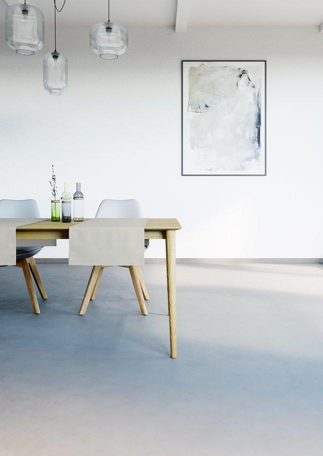 Image pour Mistral Home Chemin de table Uniline oyster L 140 x Lg 45 cm - 2 pièces à partir de ColliShop