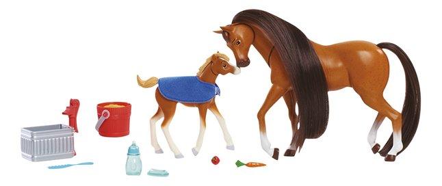 Speelset Spirit Feed & Nuzzle Paard met veulen