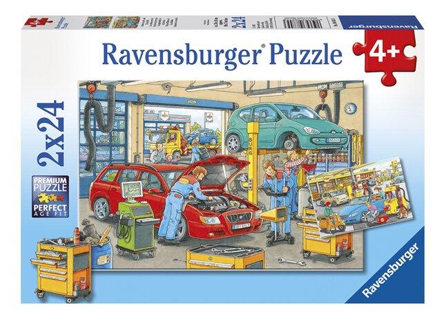 Image pour Ravensburger puzzle 2 en 1 La station-service à partir de ColliShop