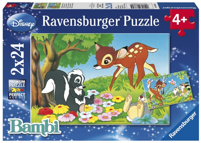Image pour Ravensburger puzzle 2 en 1 Bambi et ses amis à partir de ColliShop
