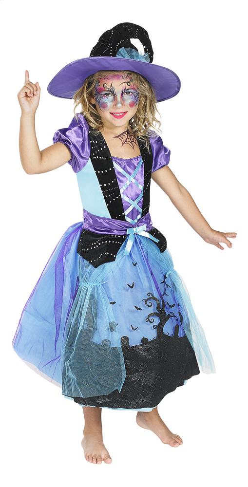 Image pour Déguisement de sorcière mauve et bleu taille 128 à partir de ColliShop