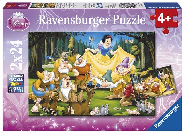 Image pour Ravensburger puzzle 2 en 1 Blanche-Neige et les 7 nains à partir de ColliShop