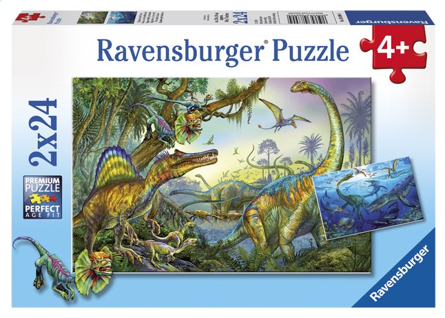 Afbeelding van Ravensburger puzzel 2-in-1 Giganten uit de oertijd from ColliShop