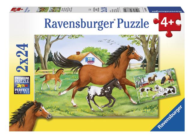 Image pour Ravensburger puzzle 2 en 1 Monde des chevaux à partir de ColliShop