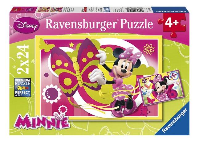 Image pour Ravensburger puzzle 2 en 1 Une journée avec Minnie à partir de ColliShop