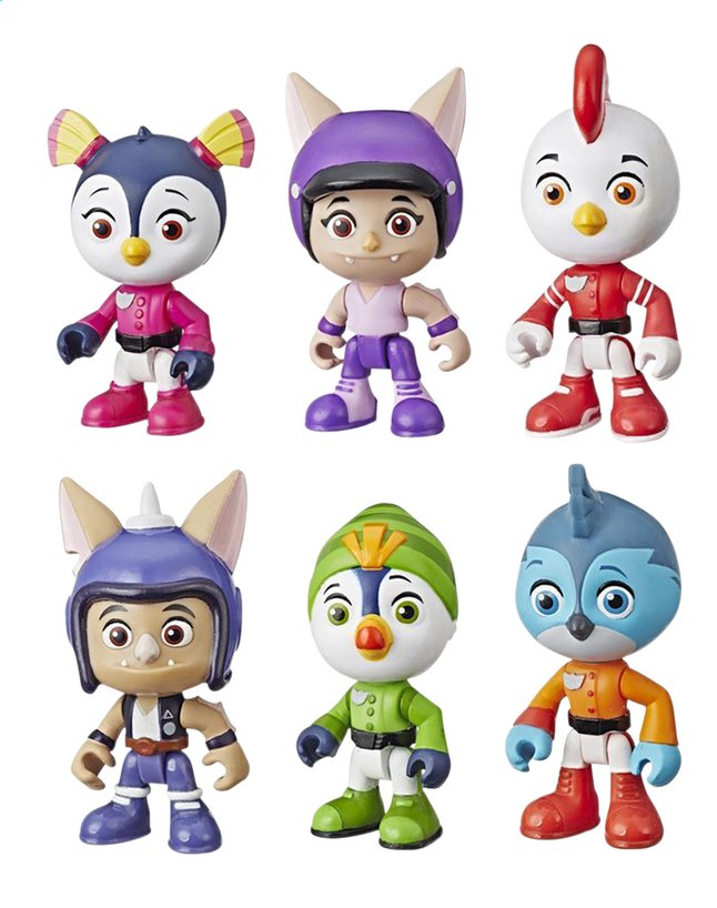 Playskool 6 figurines Top Wing Collector pack