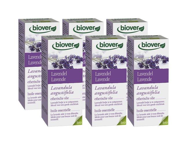 Biover Etherische olie 10 ml lavendel - 6 stuks