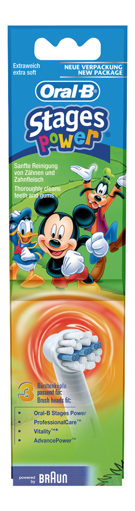 Image pour Oral-B 3 brossettes de rechange Stage Power Disney Mickey à partir de ColliShop