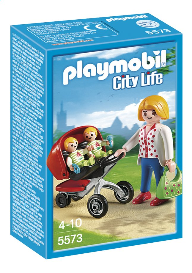 Afbeelding van Playmobil City Life 5573 Tweeling kinderwagen from ColliShop