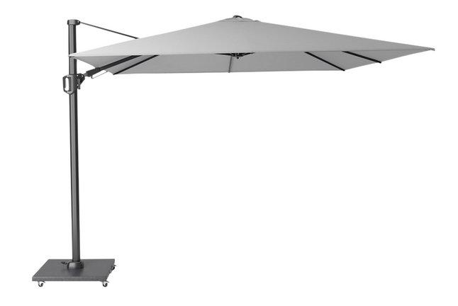 Platinum parasol suspendu Challenger T2 aluminium 3 x 3 m gris clair
