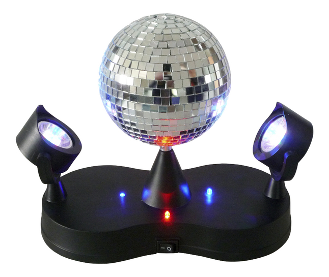 Image pour Boule disco sur socle avec 2 projecteurs à partir de ColliShop