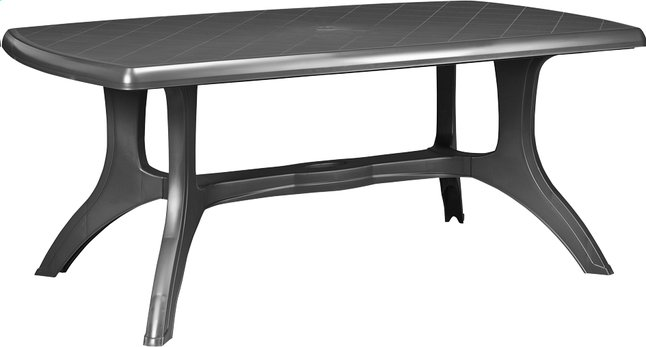 Image pour Jardin table de jardin Wellington gris graphite 184 x 103 cm à partir de ColliShop