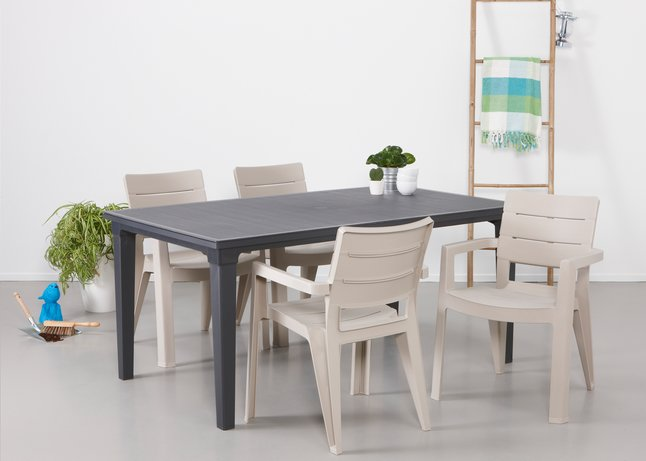 gris FuturaIbiza jardin ensemble de graphiteblanc Allibert 6fgyb7