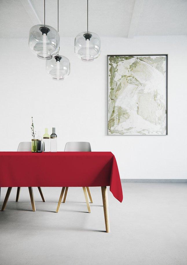 Afbeelding van Mistral Home Tafellaken Uniline rood 140 x 240 cm from ColliShop