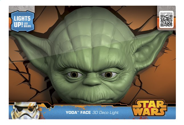 Afbeelding van 3DLightFX muurlamp Star Wars Yoda from ColliShop
