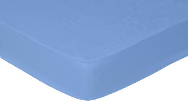 Afbeelding van Sleepnight Hoeslaken hoekhoogte 30 cm blauw katoenjersey 90/100 x 200 cm from ColliShop