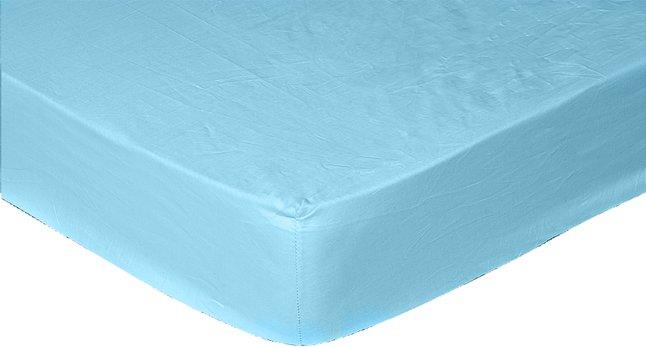 Image pour Sleepnight drap-housse turquoise en éponge stretch 160 x 200 cm à partir de ColliShop
