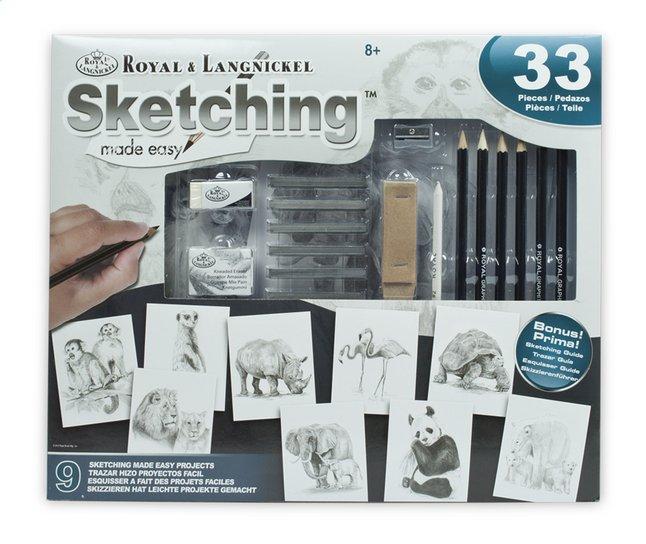 Afbeelding van Royal & Langnickel tekenkoffer Sketching Made easy from ColliShop