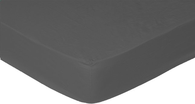 Afbeelding van Sleepnight Hoeslaken hoekhoogte 25 cm donkergrijs flanel 160 x 200 cm from ColliShop