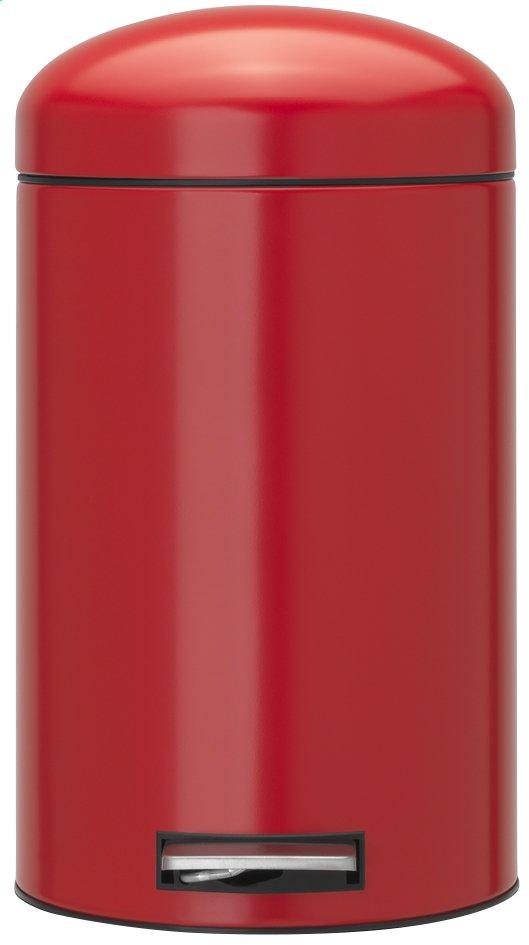 Image pour Brabantia poubelle à pédale Retro Bin Passion Red à partir de ColliShop