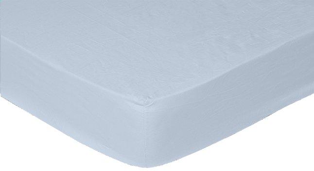 Image pour Sleepnight drap-housse bleu clair en coton 160 x 200 cm à partir de ColliShop