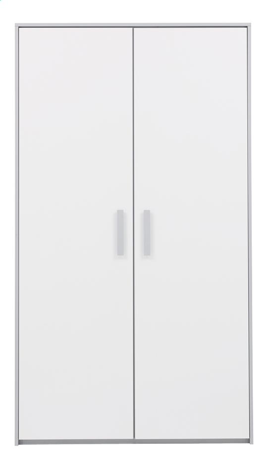 Afbeelding van Kleerkast met 2 deuren Babel wit from ColliShop