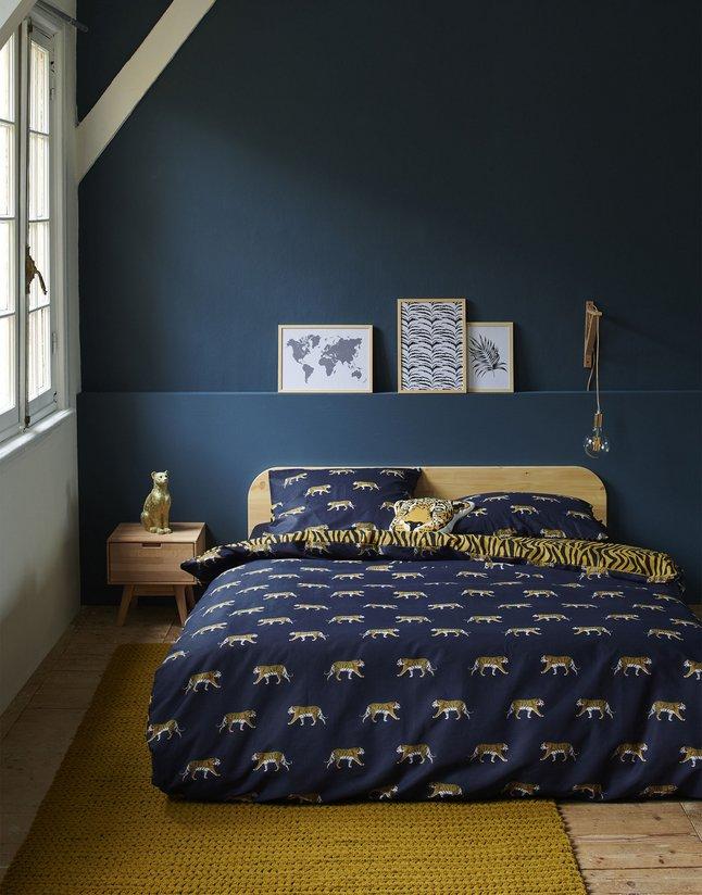 Afbeelding van Covers & Co Dekbedovertrek Machli dark blue katoen from ColliShop