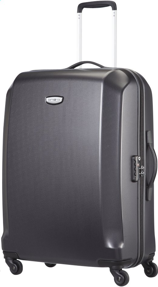 Afbeelding van Samsonite Harde reistrolley Skydro Spinner black 69 cm from ColliShop